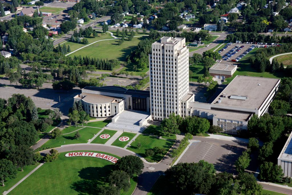 North Dakota State Capitol Aerial North Dakota Capitol Aerial Commerce Aerials 196.JPG